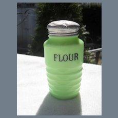 Jeanette Jadeite Flour Shaker Original Lid