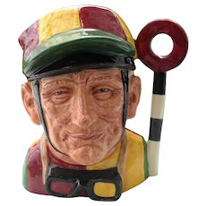 Large Royal Doulton The Jockey Toby Jug D 6625