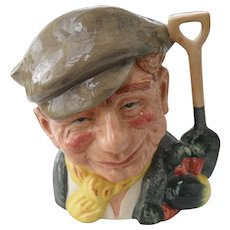 Large Royal Doulton The Gardener D 6630 Toby Jug