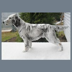 Large Royal Doulton English Setter Ch. Maesydd Mustard Dog HN 1049