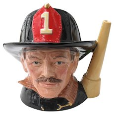 Large Royal Doulton Toby Jug The Fireman D 6697