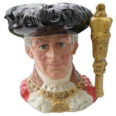 Large Royal Doulton Lord Mayor of London D 6864 Toby Jug