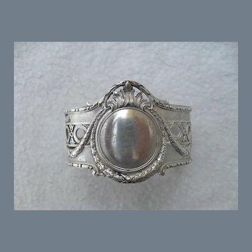 Ornate Poland 875 Sterling Silver Napkin Ring