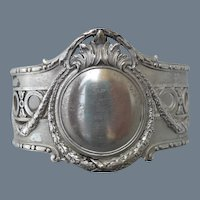 Ornate Poland 875 Sterling Silver Napkin Ring