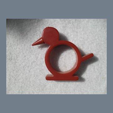 Vintage Bakelite Chicken Napkin Ring