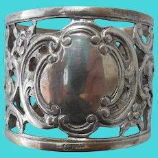 Hallmarked 800 Silver Floral Pierced Napkin Ring