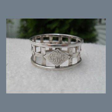 Hallmarked Birmingham Sterling Napkin Ring