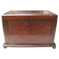 English Cherry Tabletop Stationery Writing Desk Box Tambour