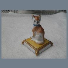 Old Paris Courtille Porcelain Cat Figurine
