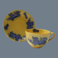 Rare Masons Ironstone Flow Blue Dragon and Pearl Teacup and Saucer