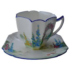 Shelley Archway of Roses Queen Anne Demitasse Cup and Saucer 11606