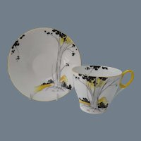 Shelley Tall Trees and Sunrise Teacup Saucer Trio 11678