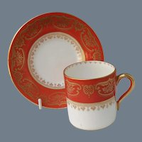 Shelley Persimmon Demitasse Cup and Saucer 12886