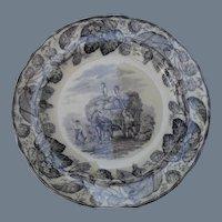 """Ten Antique Copeland Duncan Scenes Plates 8 3/4"""""""