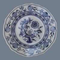 Antique Meissen Star Blue Onion Dinner Plate