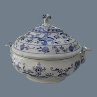 Antique Meissen Star Blue Onion Tureen and Cover