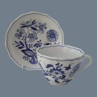 Hutschenreuther Blue Onion Teacup and Saucer