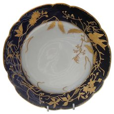 Limoges Ahrenfeldt Gold Encrusted Bird Berry Plate