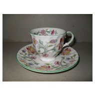 Traditional Minton Haddon Hall Demitasse and Saucer