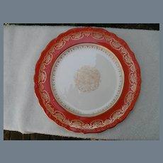 Set of 11 Shelley Burnt Orange Red Dessert Plate s