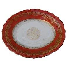 Shelley Burnt Orange Red Shallow Serving Dish 12886