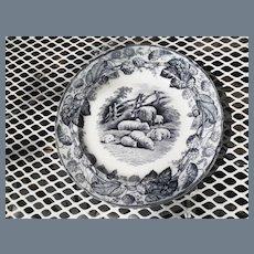 """Six Antique Copeland Duncan Scenes Plates 7 3/8"""""""