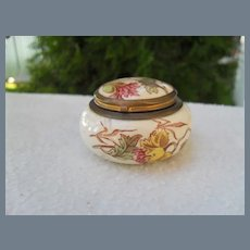 Antique Georges Dreyfus Paris Porcelain Floral Pill Box