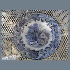 """Six Antique Copeland Duncan Scenes Dinner Plates 10 1/4"""""""
