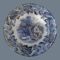 Six Antique Copeland Duncan Scenes Dinner Plates 10 1/4""