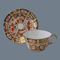 Royal Crown Derby 2451 Imari Teacup and Saucer 1923