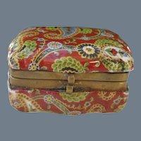 Vintage Porcelain Paisley Pill Snuff Box