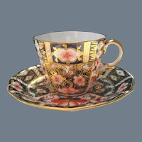 Royal Crown Derby 2451 Imari Teacup and Saucer 1931