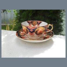 Rare Antique Aynsley Imari Teacup and Saucer