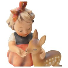 """Hummel Girl with Fawn """"Friends""""  136/1 5 1/4"""" 1947"""
