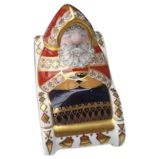Royal Crown Derby Santa and Sleigh Paperweight