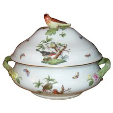 Monumental Herend Rothschild Bird Finial Covered Tureen 5/RO 181