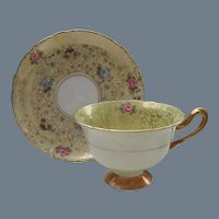 Shelley Chintz Pansy Rose Forget Me Not Teacup and Saucer 12609/48