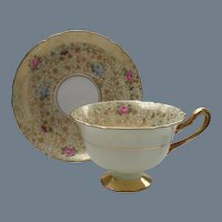 Shelley Chintz Pansy Rose Forget Me Not Teacup Saucer 12609/48