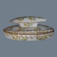 Antique Porcelain Flowers Nail Buffer