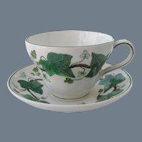 Vintage Wedgwood Napoleon Ivy Etruria & Barlaston Teacup & Saucer