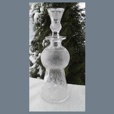 Large Edinburgh Scotland Etched Thistle Decanter