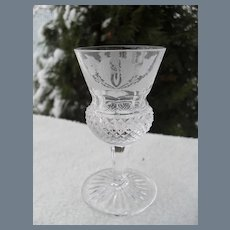 Edinburgh Crystal Scotland Thistle Cordial Glass 3 3/8""