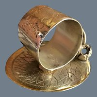 Antique Meriden Co Silverplate Waterlily Pad Napkin Ring