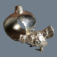 Antique Victorian Figural Chicken Chick Egg Silver-plated Napkin Ring