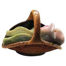 Delightful Rochard Limoges Calla Lilies in Basket Pill Box