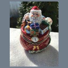 Rare Christopher Radio Nick of Time Christmas Trinket Box