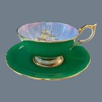 Stunning Aynsley Clipper Ship Teacup and Saucer D Jones