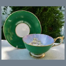 Aynsley Clipper Ship Teacup and Saucer D Jones Blemish