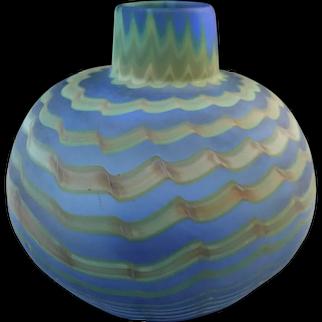 Rochester Folk Art Guild Glass Vase 1980