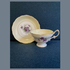 Sweet Hammersley Victorian Violets Teacup and Saucer